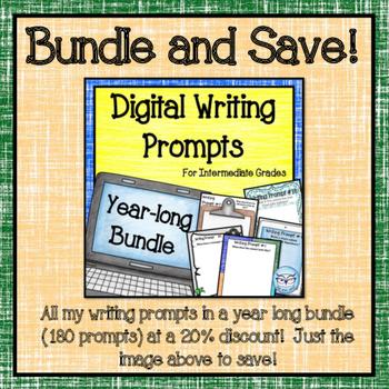 Digital Math Writing Prompts for the Intermediate Classroom