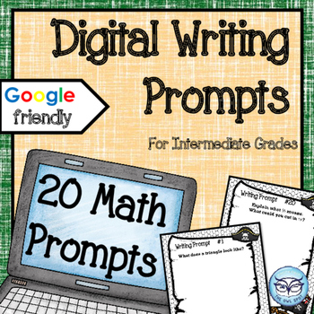 Digital Math Writing Prompts for the Intermediate Classroom