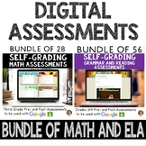 Digital Math & ELA SELF-GRADING Assessments for Google Classroom- Grades 3-4
