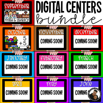 Digital Math and Literacy Centers for First Grade