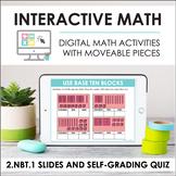 Digital Math for 2.NBT.1 - Place Value & Base Ten (Slides + Self-Grading Quiz)