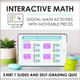 Digital Math for 3.NBT.1 - Rounding (Slides + Self-Grading Quiz)