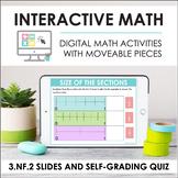 Digital Math for 3.NF.2 - Fractions on Number Line (Slides