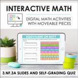Digital Math for 3.NF.3A - Intro to Equivalency (Slides +