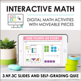 Digital Math for 3.NF.3C - Whole Numbers (Slides + Self-Gr