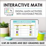 Digital Math for 3.NF.3D - Compare Fractions (Slides + Sel