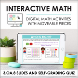 Digital Math for 3.OA.8 - Two-Step Word Problems (Slides +