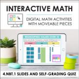 Digital Math for 4.NBT.1 - Place Value & Base Ten (Slides + Self-Grading Quiz)