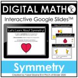 Digital Math for Kindergarten - Symmetry (Google Slides™)