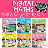 Digital Maths Variety BUNDLE - SeeSaw, Google Slides & PowerPoint