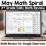 Digital May Math Spiral Review for Google Classroom: Daily