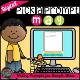 Digital May Spring Writing Prompts for Google Slides | Dis