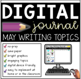 Digital May Writing Journal (Distance Learning for K-2)