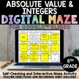 Digital Maze Absolute Value & Integers Google Slides 6th G