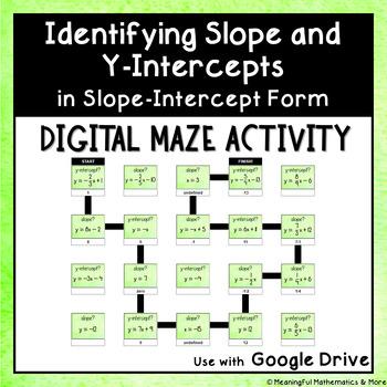 Digital Maze Activity: Identifying Slope & Y-Intercept in Slope-Intercept Form