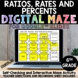 Digital Maze Ratios, Rates, & Percents Google Slides 6th G