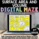 Digital Maze Surface Area and Volume Google Slides 6th Gra