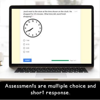 Digital Measurement SELF-GRADING Assessments for Google Classroom