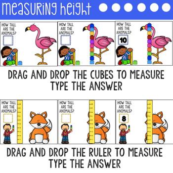 Google Classroom Digital Measuring Interactive Activities using Google Slides