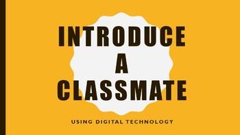Digital Media Assignment Introduce-A-Classmate