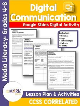 Digital Media Lesson Plan Grades 4-6 - Aligned to Common Core