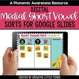 Digital Medial Short Vowel Sorts Google Slides