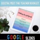 Digital Meet The Teacher Booklet