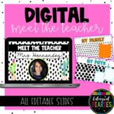 Digital Meet the Teacher   EDITABLE Slides Template   Mode