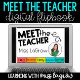 Digital Meet the Teacher Editable Flipbook Slideshow