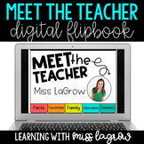 Digital Meet the Teacher Editable Flipbook Slideshow