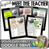Digital Meet the Teacher Templates | Distance Learning | G