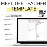 Digital Meet the Teacher and Class Info Templates | Back t