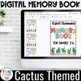 Digital Memory Book | Cactus Themed | Grade Level Covers f