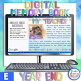 Digital Memory Book -End of the Year Google Assignments fo