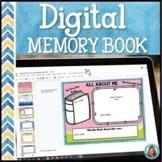 Digital Memory Book End of the Year   Google Slides™ Option