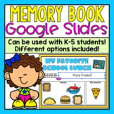 Digital Memory Book for Google Slides (Distance Learning)