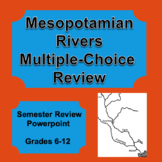 Digital Mesopotamian Rivers Science Multiple Choice Game, Powerpoint