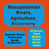 Digital Mesopotamian Science Multiple Choice Review Game Powerpoints Bundle