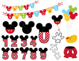 Digital Mickey Mouse Clip Art Mickey Mouse Party Mickey Mouse Numbers 00167