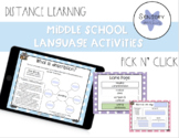 Distance Learning | Middle School Language Activities