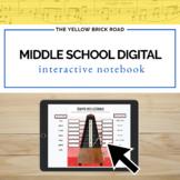 Digital Middle School Music Interactive Notebook