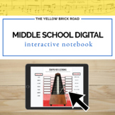 Digital Middle School Music Interactive Notebook