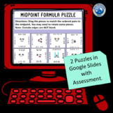 Digital Midpoint Formula Puzzle Set  Distance Learning