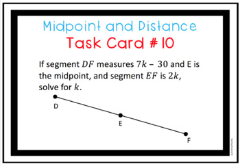 Digital Midpoint and Distance Task Cards for use w Google Slides or PowerPoint