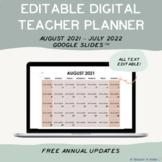 Digital Minimalist Teacher Planner - Google Slides 2021 - 2022
