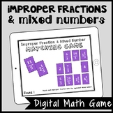 DIGITAL Mixed Number & Improper Fraction Matching Game for Google Drive