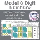 Digital Model 3 Digit Numbers