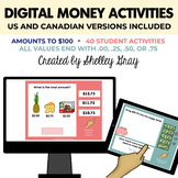 Digital Money Activities: Amounts to $100 | Distance Learning
