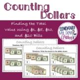 Digital Money Counting Dollars