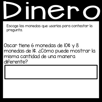 Digital Money Game on Google Slides in *Spanish*